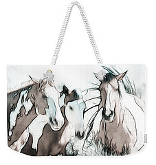 The Horse Club Weekender Tote Bag by Athena Mckinzie