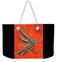 Weekender Tote Bag featuring the painting The Hunter by Susie WEBER