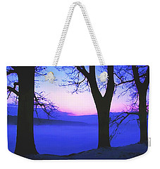 Weekender Tote Bag featuring the painting The Hush At First Light by Sophia Schmierer