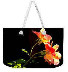 Weekender Tote Bag featuring the photograph The Illuminated Rose by AJ  Schibig