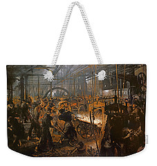 The Iron-rolling Mill Oil On Canvas, 1875 Weekender Tote Bag by Adolph Friedrich Erdmann von Menzel
