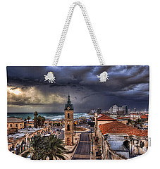 the Jaffa old clock tower Weekender Tote Bag by Ronsho