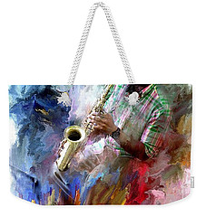 The Jazz Player Weekender Tote Bag