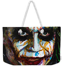 The Joker - Ledger Weekender Tote Bag by Laur Iduc