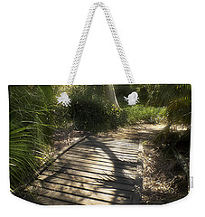 Weekender Tote Bag featuring the photograph The Journey Along The Path Comes With Light And Shadows by Lucinda Walter