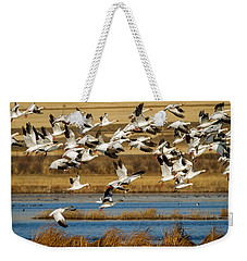 Weekender Tote Bag featuring the photograph The Journey by Jack Bell