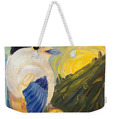Weekender Tote Bag featuring the painting The Key by Maria Langgle