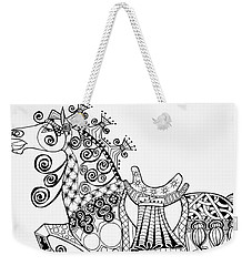 The King's Horse - Zentangle Weekender Tote Bag by Jani Freimann