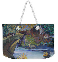 To Kiss A Frog Weekender Tote Bag by Avonelle Kelsey