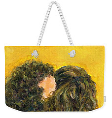 The Kiss Of Two Curly Haired Lovers Weekender Tote Bag