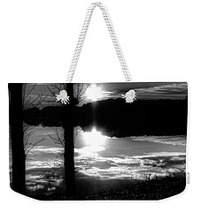 The Lake - Black And White Weekender Tote Bag