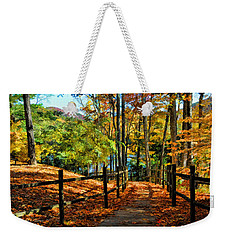 The Lake Path Weekender Tote Bag