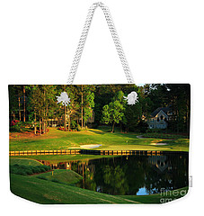 Golf At The Landing #3 In Reynolds Plantation On Lake Oconee Ga Weekender Tote Bag by Reid Callaway