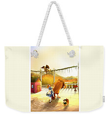The Landing On The Balcony  Weekender Tote Bag