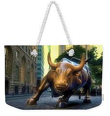 The Landmark Charging Bull In Lower Manhattan 2 Weekender Tote Bag