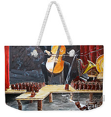 The Last Concert Listen With Music Of The Description Box Weekender Tote Bag by Lazaro Hurtado