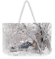 The Last Snow Storm Weekender Tote Bag by Kay Novy