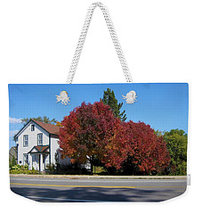 The Library Across The Street Weekender Tote Bag