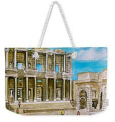The Library At Ephesus Turkey Weekender Tote Bag
