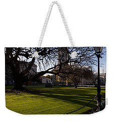 The Library Square, Trinity College Weekender Tote Bag by Panoramic Images