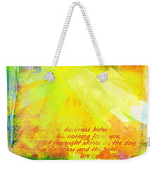 Weekender Tote Bag featuring the photograph The Light by Jocelyn Friis