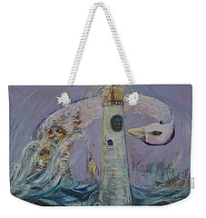 The Lighthouse Keeper And The Swan #1  Weekender Tote Bag