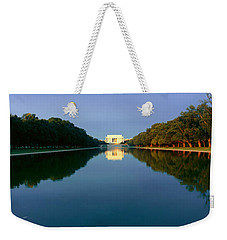 The Lincoln Memorial At Sunrise Weekender Tote Bag by Panoramic Images