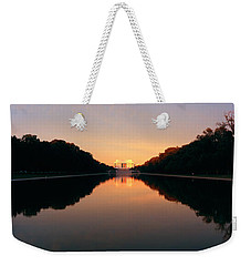 The Lincoln Memorial At Sunset Weekender Tote Bag by Panoramic Images