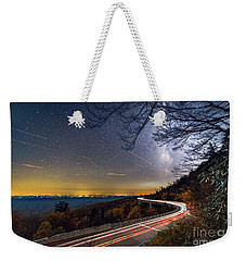 The Linn Cove Viaduct Milky Way Light Trails Weekender Tote Bag