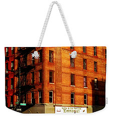 Iglesia - The Little Church On The Corner - New York City Street Scene Weekender Tote Bag