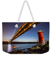 The Little Red Lighthouse Weekender Tote Bag by Mihai Andritoiu