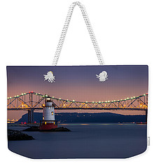 The Little White Lighthouse Weekender Tote Bag by Mihai Andritoiu