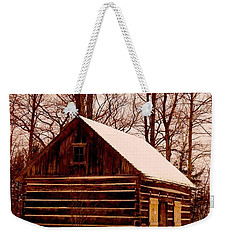 The Log Cabin At Old Mission Point Weekender Tote Bag by Daniel Thompson