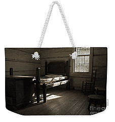 Weekender Tote Bag featuring the photograph The Log Cabin C.1785 by Robert Meanor
