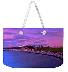 Weekender Tote Bag featuring the photograph The Lonely Bridge by Jonah  Anderson