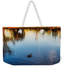 The Lonely Duck  Weekender Tote Bag by Naomi Burgess