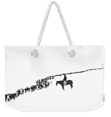The Long Long Line Weekender Tote Bag