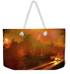 Weekender Tote Bag featuring the photograph The Long Road Home  by Fine Art By Andrew David