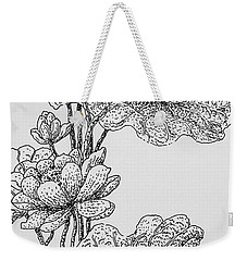 The Lotus Flower Weekender Tote Bag