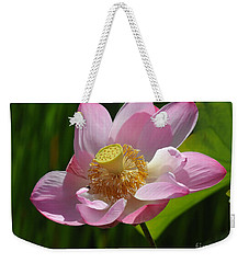 Weekender Tote Bag featuring the photograph The Lotus by Vivian Christopher