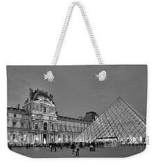 The Louvre Black And White Weekender Tote Bag