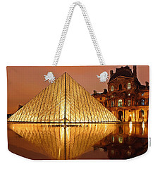 The Louvre By Night Weekender Tote Bag