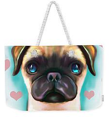 The Love Pug Weekender Tote Bag
