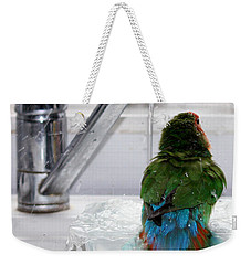 The Lovebird's Shower Weekender Tote Bag by Terri Waters