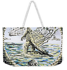 Weekender Tote Bag featuring the painting The Machine by Ryan Demaree