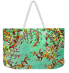 Weekender Tote Bag featuring the digital art The Mad Hatter's Fractal by Susan Maxwell Schmidt