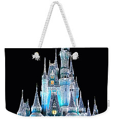 The Magic Kingdom Castle In Frosty Light Blue Walt Disney World Weekender Tote Bag