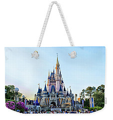 The Magic Kingdom Castle On A Beautiful Summer Day Horizontal Weekender Tote Bag by Thomas Woolworth