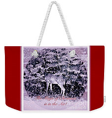 The Magic Of Christmastime In A Woodland II Weekender Tote Bag by Kimberlee Baxter