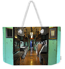 Weekender Tote Bag featuring the photograph The Mail Car From The Series View Of An Old Railroad by Verana Stark